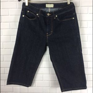 📦Bermuda jean  Short Size 26 Dark wash